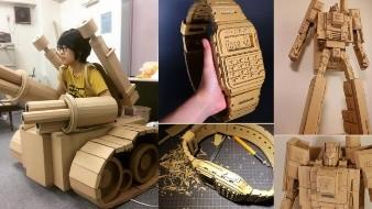 Artista japonesa convierte  cajas de cartón en obras de arte