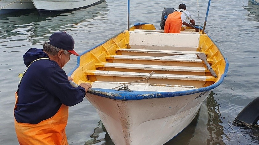 Los pescadores han tenido que vender sus productos hasta en 7 pesos el kilo, cuando lo normal es de 20 pesos.(Yesicka Ojeda)