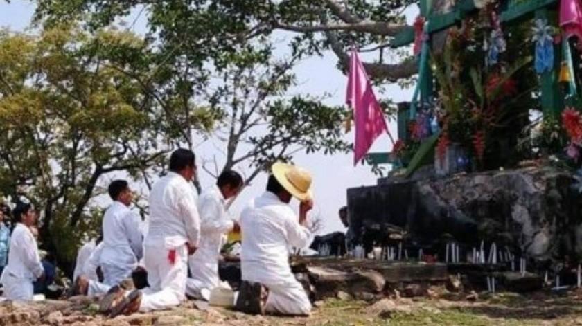 Realizan actos religiosos en Chiapas pese a contingencia por Covid-19(El Universal)