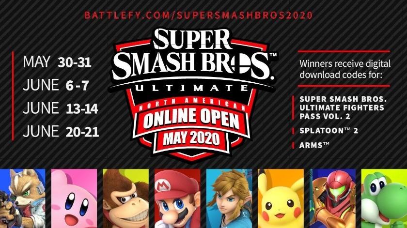 Super Smash Bros. Ultimate tendrá un torneo online para EE.UU., Canadá y México