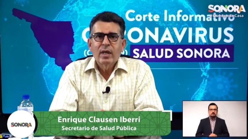 Covid-19 en Sonora: Suman mil 599 casos confirmados y 123 decesos(Captura de pantalla)