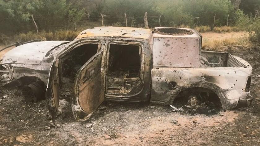 Enfrentamiento en Nuevo León deja dos muertos y tres vehículos calcinados(Especial)