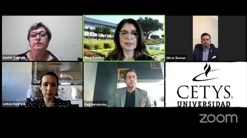 """Cetys Universidad Campus Tijuana realizó la videoconferencia """"Retos de la contaduría pública"""", en el Marco del Día Internacional del Contador Público.(Cortesía)"""