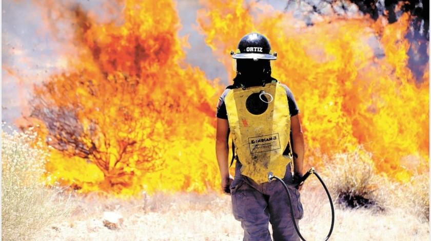 Los responsables de turno de Bomberos de Hermosillo recibirán capacitación en línea.(Julián Ortega)