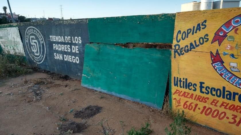 Sufre vandalismo Liga de béisbol de Playas de Rosarito(Cortesía)