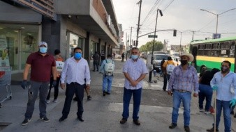 Sanitizan zona comercial del bulevar Díaz Ordaz