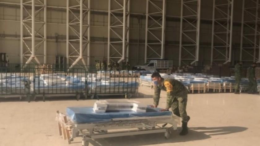 Envía Sedena 50 camas a Hospital Militar de Hermosillo para atender a pacientes con Covid-19(Especial)
