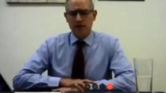 ugo López-Gatell ayer durante su comparecencia a distancia ante senadores.
