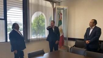 Octavio Hilton Reyes tomó protesta ante el Secretario Hacienda, Rodolfo Castro Valdez.