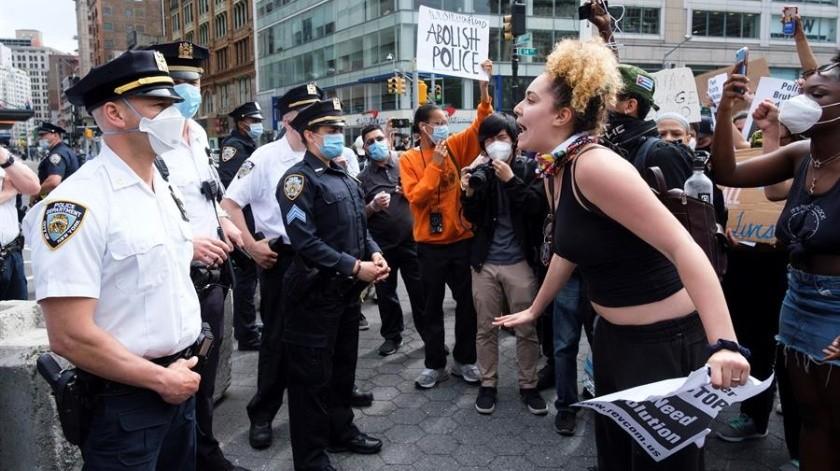 5 detenidos tras protestas en NY por la muerte de George Floyd(EFE)