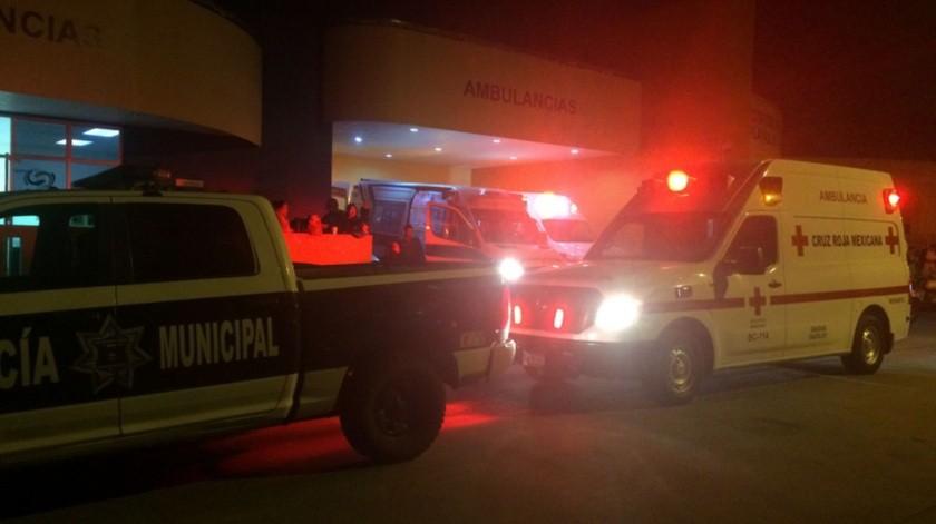 El lesionado fue trasladado al hospital.