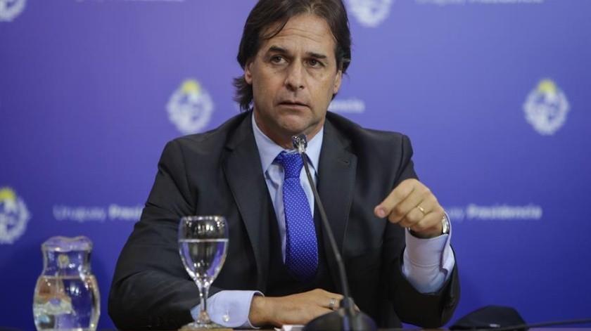 El presidente de Uruguay, Luis Lacalle Pou, guardará cuarentena hasta que se conozcan los resultados del análisis.(EFE)