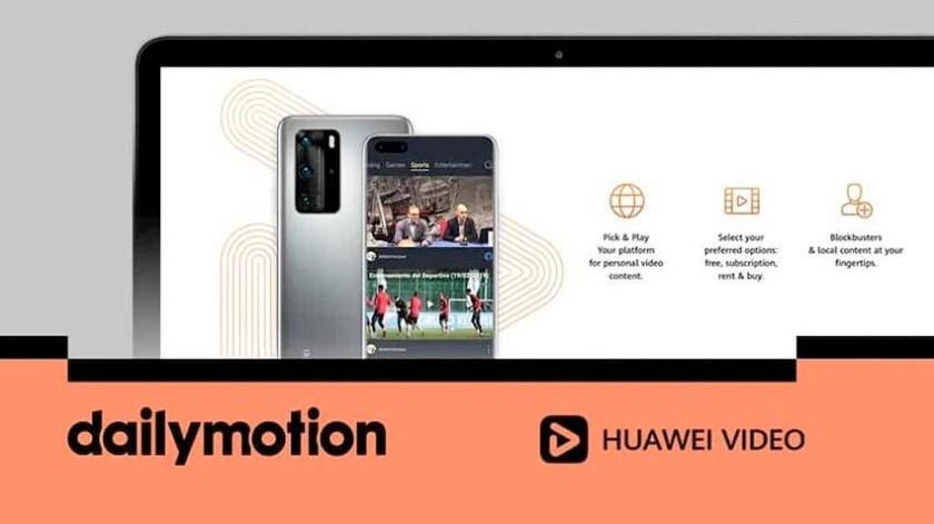 Huawei sin Youtube en 2021 integra tecnología de vídeo de Dailymotion