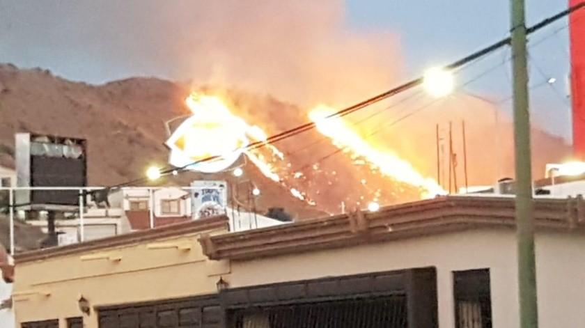 Incendio en Cerro del Bachoco es de maleza: Juan Matty(Especial)