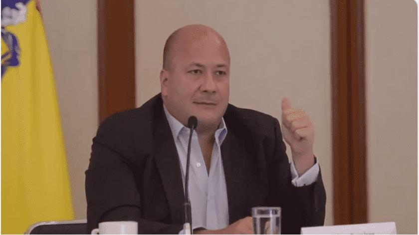 """""""Los estados estamos solos enfrentando la emergencia"""", señaló el gobernador de Jalisco, Enrique Alfaro, tras considerar que el gobierno federal pretende lavarse las manos con el semáforo epidemiológico(Especial)"""