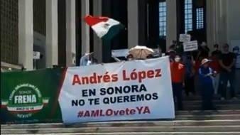 Piden dimisión de AMLO en Hermosillo; se suman a protesta nacional