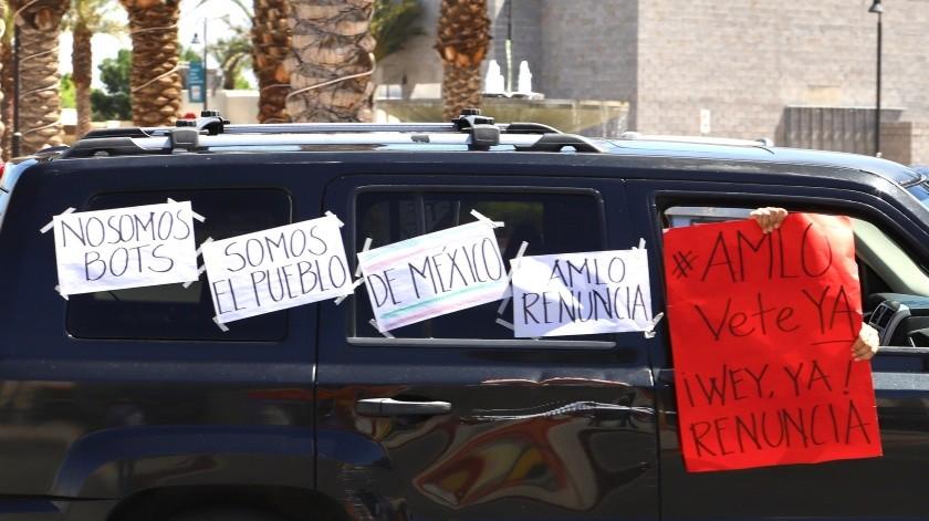 Protestan contra AMLO en Mexicali(Javier Gallegos)