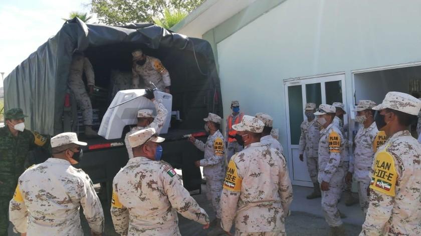 Llegan 50 camas hospitalarias a Cuarta Zona Militar(Especial)