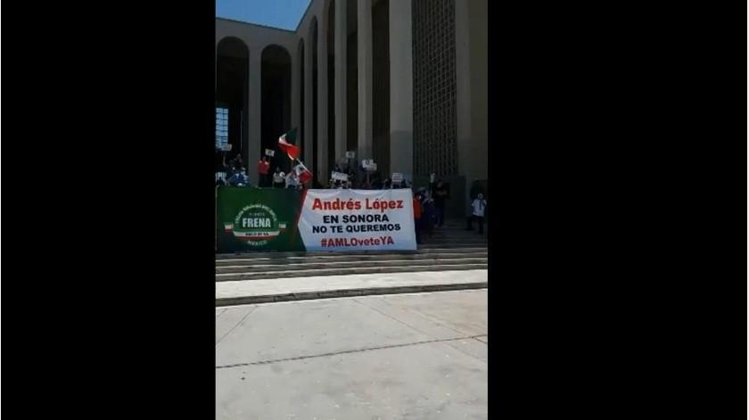 Protesta en Hermosillo en contra del presidente López Obrador.(EL IMPARCIAL)