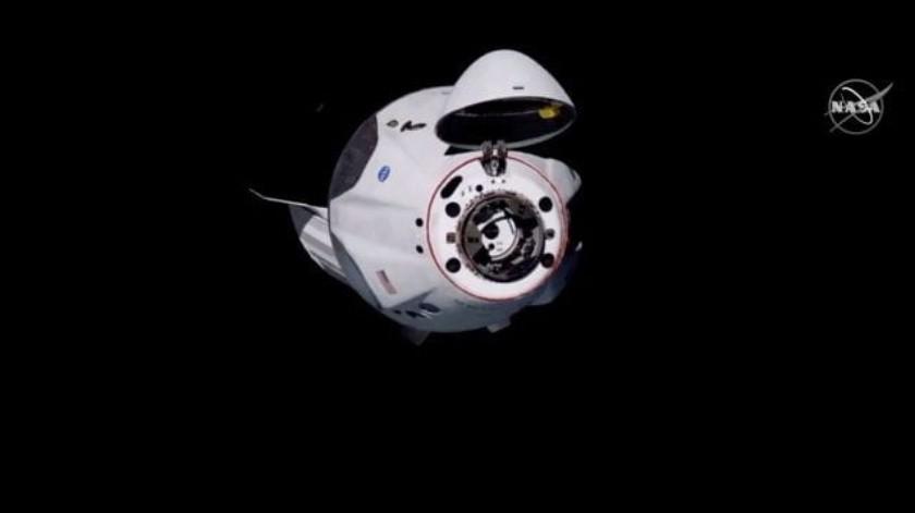 Cápsula Crew Dragon de SpaceX se acoplará a Estación Espacial Internacional(Captura de pantalla)