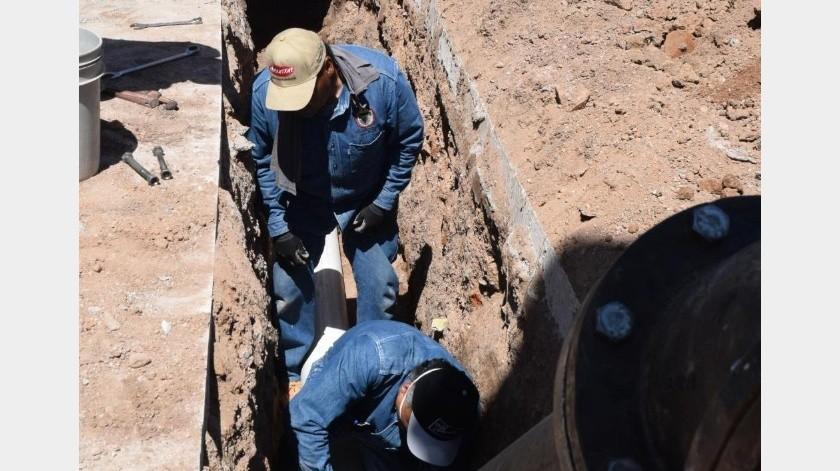 La próxima semana se espera que comience a operar el pozo número cuatro en Agua Prieta.(Especial)