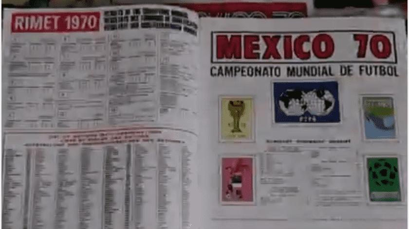 Panini celebra 50 años de su primer álbum, el del Mundial de México 70(Captura de pantalla)