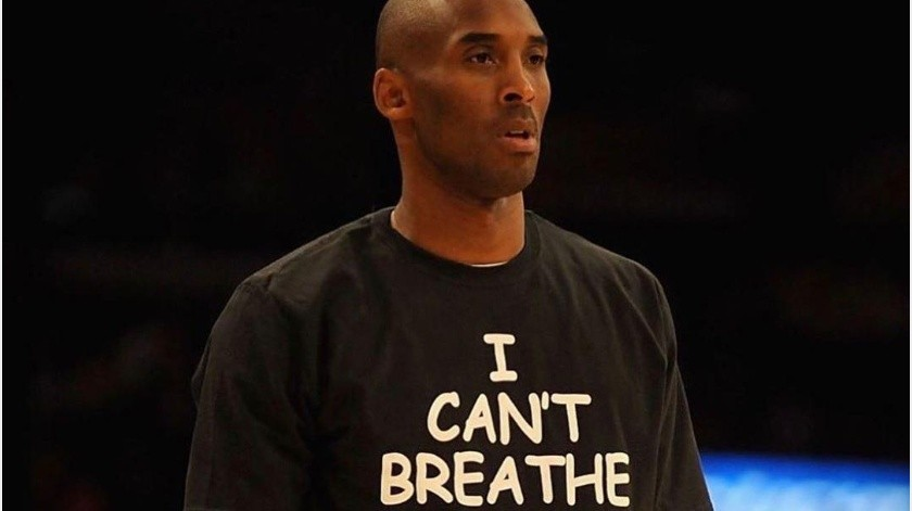 "Bryant utilizó camiseta con frase ""I Can't Breathe""; la misma que gritó George Floyd antes de morir(Instagram @vanessabryant)"