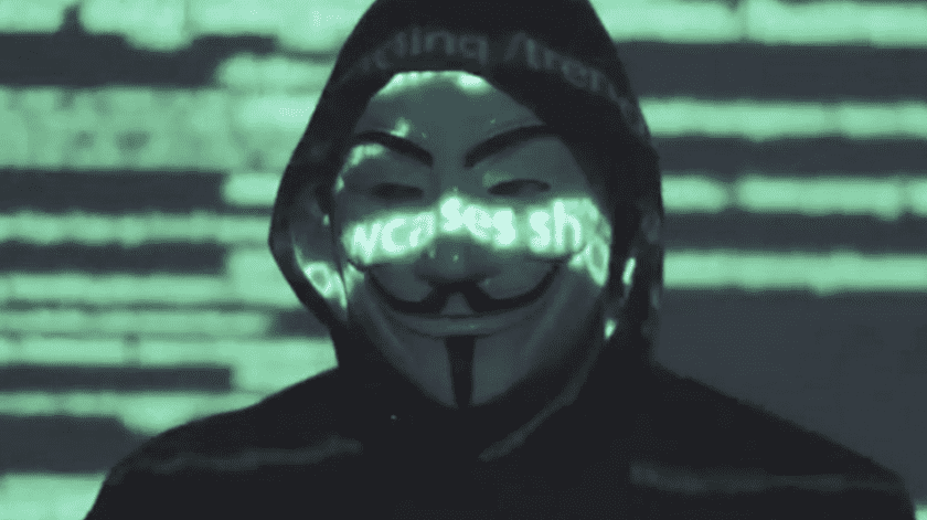 Anonymous es un grupo de hackers en contra del sistema.(YouTube)