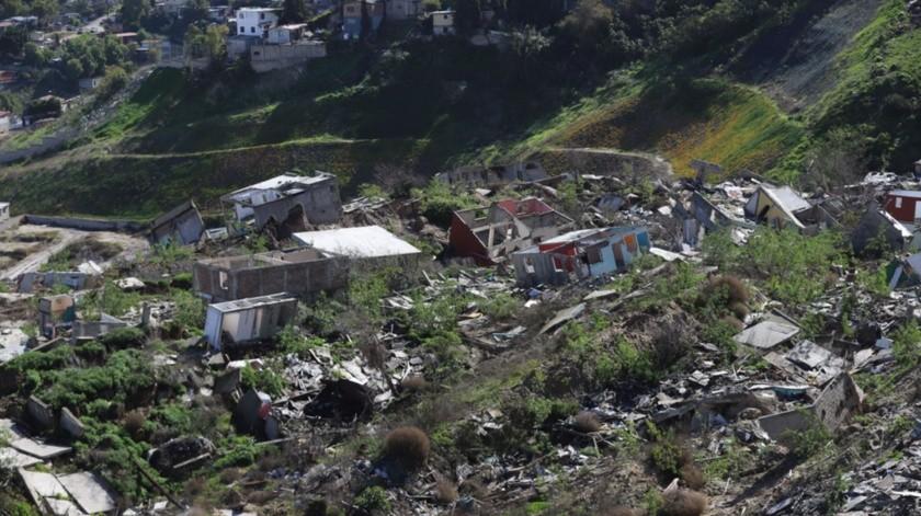 En Lomas del Rubí actualmente hay 168 viviendas colapsadas.