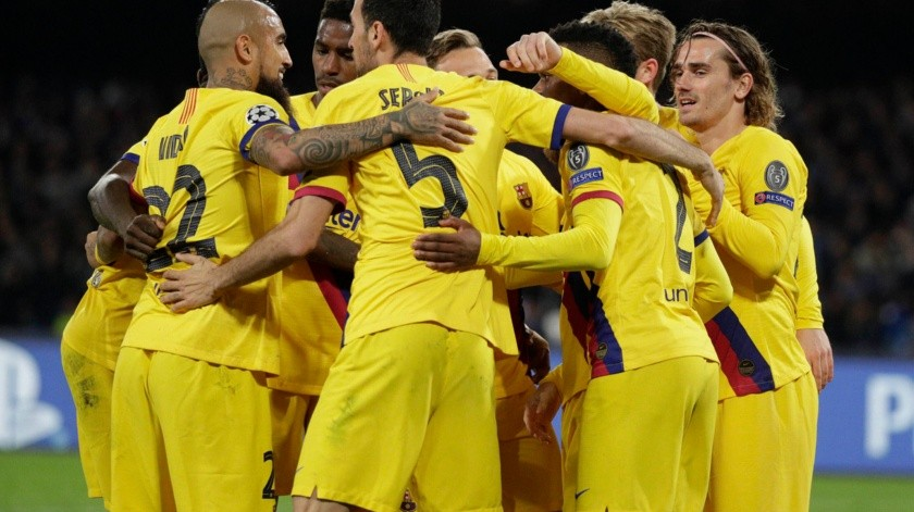 CAMPEONES NAPOLI-BARCELONA(Copyright 2020 The Associated Press. All rights reserved, AP)