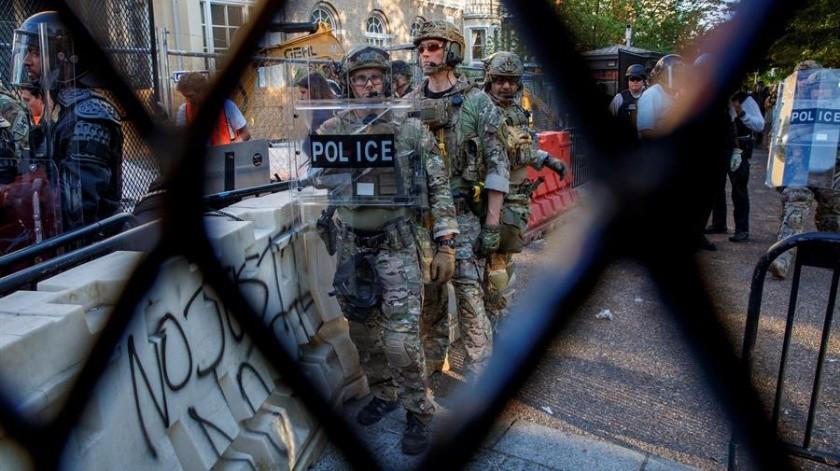 Mil 600 soldados fueron desplegados en Washington tras protestas violentas: Pentágono(EFE)