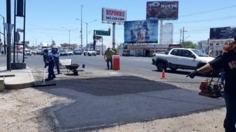 Concreto hidráulico ya se ha colocado en 18 puntos de Hermosillo