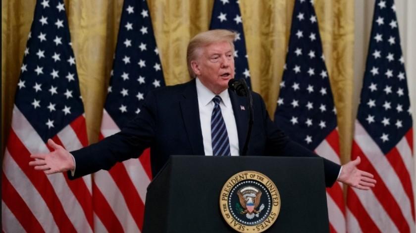 """Asegura Trump que fue al búnker """"sólo para inspeccionar"""" en medio de protestas(GH)"""