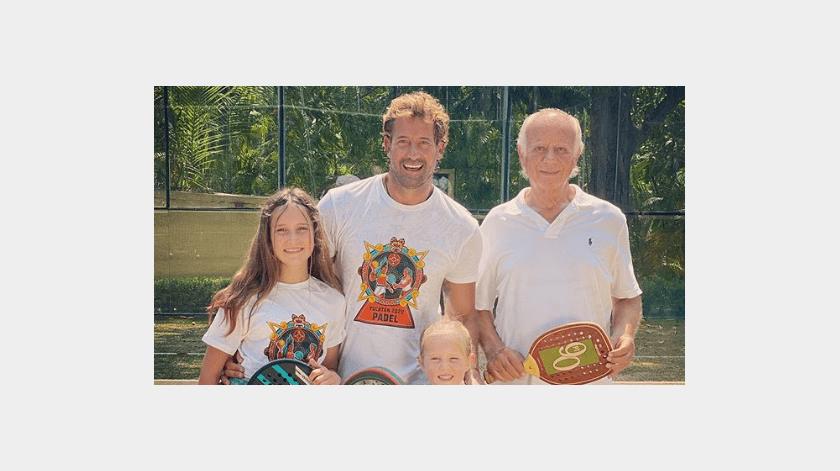 Irina Baeva ya convive en familia con las hijas de Gabriel Soto(Instagram)