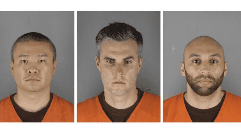 Fijan fianza de 750 mil dólares para 3 policías implicados en muerte de Floyd(EFE)