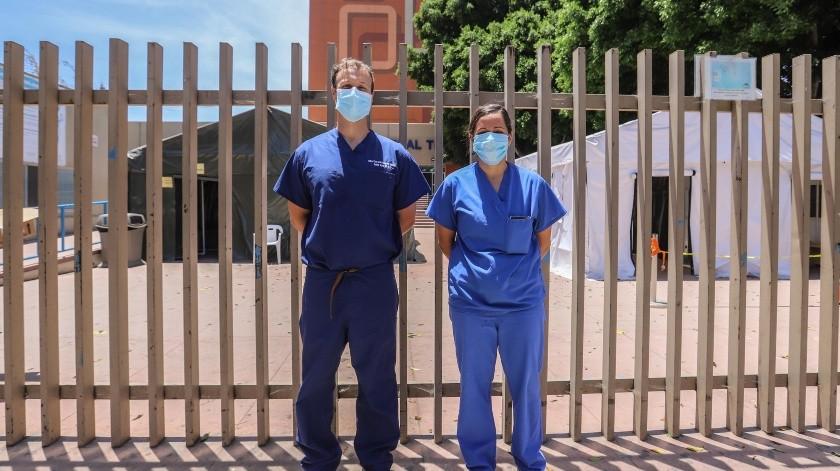 Wardi y Del Río atienden de manera gratuita a enfermos de coronavirus en Tijuana.(Gustavo Suárez)