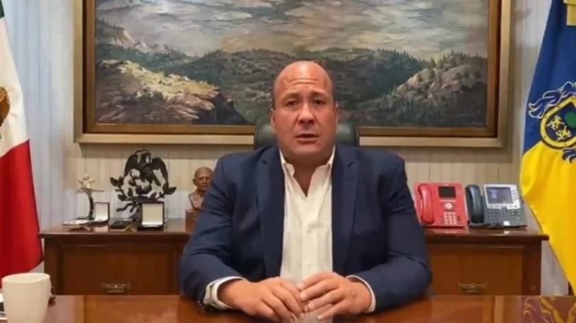 """Gobernador de Jalisco culpa a """"gente"""" de AMLO de enviar a infiltrados a protesta por el asesinato de Giovanni(Captura de pantalla)"""
