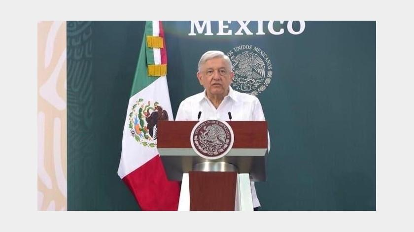"""El Presidente Andrés Manuel López Obrador dijo que Enrique Alfaro, gobernador de Jalisco """"no se retracte"""" de su acusación, pues """"ayer dijo que era yo"""".(Gobierno de México)"""