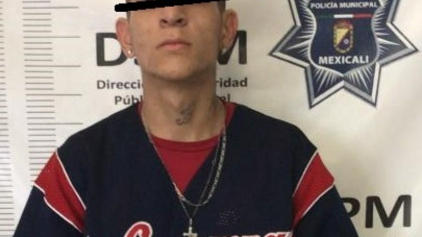 Interceptan a hombre armado al oriente de Mexicali(Cortesía)