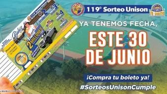 30 de junio, nueva fecha para el 119 Sorteo de la Unison
