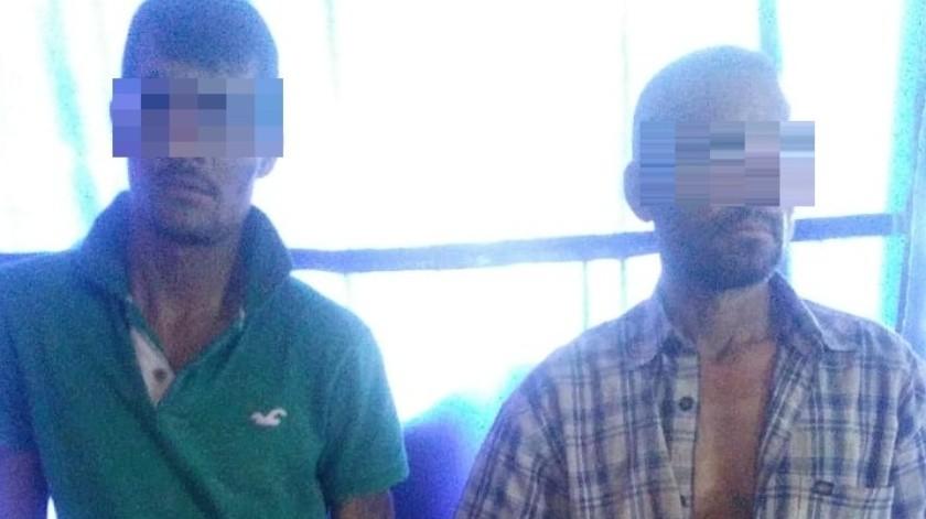 Detienen a presuntos responsables de robo a casa en colonia Villas del Cerro Colorado; intentaron escapar(Especial)