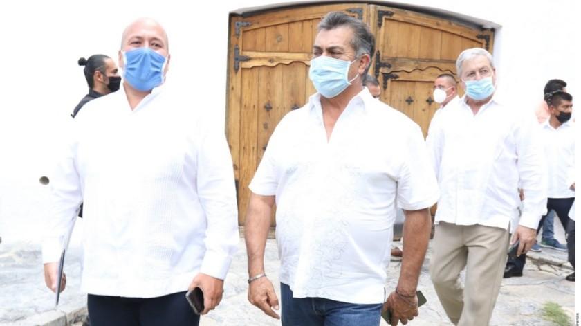 Fuentes conocedoras del caso dicen que por la variedad de medios afectados y la coincidencia en Parras, se señala a la reunión de gobernadores como el sitio del contagio.(Agencia Reforma)