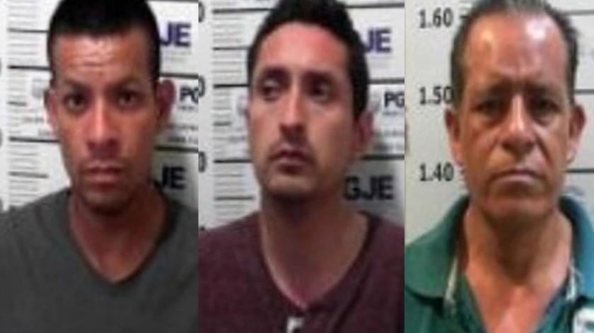 Los sentenciados son Carlos Ignacio Romero, Alejandro Martínez Flores y Mohamed Cobián Méndez.(Cortesía)