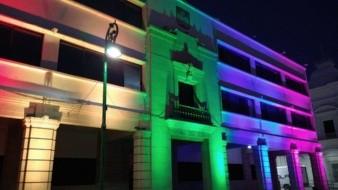 Palacio Municipal de Hermosillo se viste de colores por el mes del Orgullo Gay