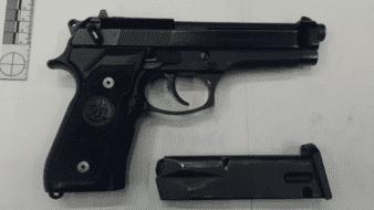 Halla una pistola en la basura, en SLRC