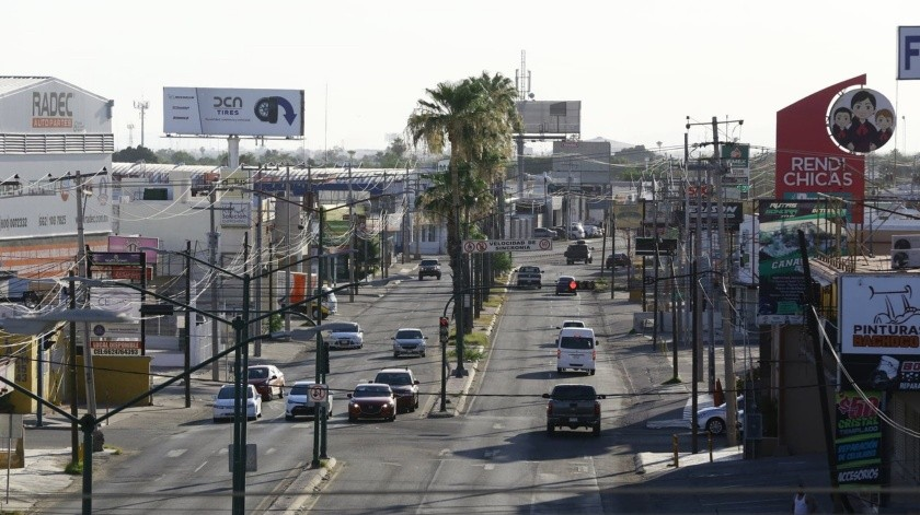 COVID-19: Poco tránsito en Hermosillo por restricciones de movilidad; toman temperatura en filtros