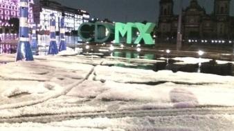 La tormenta se organizó en el Estado de México y se movió hacia la capital del país.