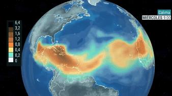 Nube de polvo del desierto del Sahara pasará sobre la Península de Yucatán y la vertiente del Golfo de México durante esta semana