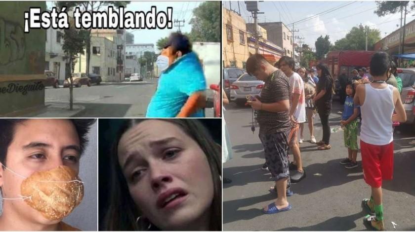 Los Memes del doble susto, el sismo en medio de la pandemia(Sin Embargo)