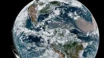 En días pasados, una nube de polvo se desprendió desde la región del Sahel, en el desierto de Sahara.
